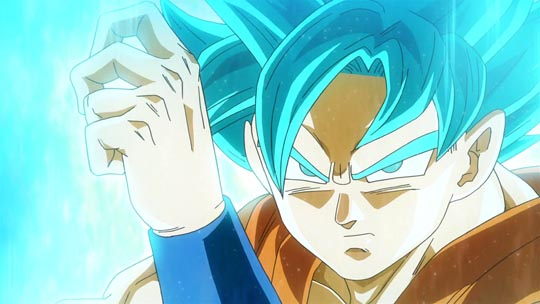 Dragon Ball Z La Resurrección de F - Goku Super Saiyan God Super Saiyan