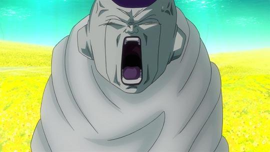 Dragon Ball Z La Resurrección de F - Infierno - Freezer, capullo, grita
