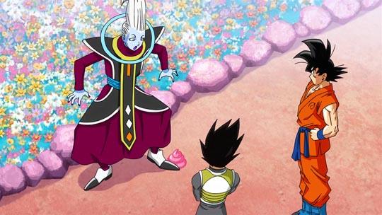 Dragon Ball Z La Resurrección de F - Wiss, mojón, Goku, Vegeta